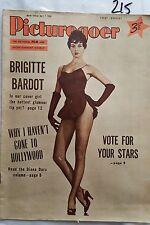 PICTUREGOER,1956 APRIL 7,BRIGITTE BARDOT Cover & FEATURE,DIANA DOR,SOPHIA LOREN,