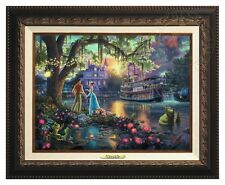 Thomas Kinkade Princess And The Frog Canvas Classic (Aged Bronze Frame)