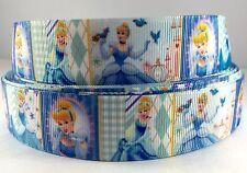 "7/8"" Princess Cinderella Inspired 3 yards Grosgrain Ribbon-printed-Fabric-Cra ft"
