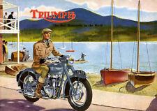 TRIUMPH British Classic Vintage Old Style Moto Metallo Segno Uomo Capanno Regalo