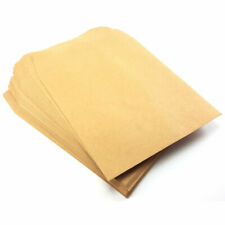 Wage Envelopes 1000 Small Square Brown Envelopes School Dinner Money Cash Plain