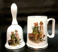 """Vintage, Norman Rockwell, Bell & Cup """"The Cobbler"""" w/Gold Gilding, VGC+"""