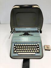 Vintage Blue Remington Fleetwing Typewriter
