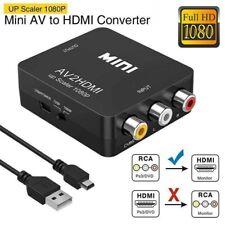 Mini AV zu HDMI Video Audio Konverter 1080P HD RCA Adapter Für PS3 PS2 SKY HDTV