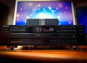 SONY CDP-C365 Quality Vintage Multiple 5 CD Tray Player Manual & Remote Control