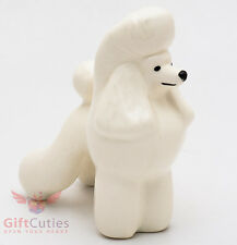 Porcelain Figurine of the white Poodle Dog