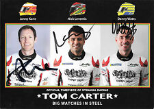 Kane / Leventis / Watts SIGNED, Strakka Racing Dome  Official Promocard  2015