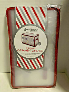 NEW WHITMOR Christmas Ornament Zip Chest Holds up to 112 Ornaments Individual
