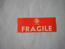 ETIQUETTE AIR FRANCE  FRAGILE 50  TAG  LABEL