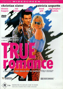 True Romance - Christian Slater, Patricia Arquette, Dennis Hopper - HTF - DVD