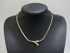 Gold Collier aus 585er Gelb & Weißgold mit Diamanten | ca. 0.15ct