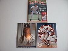 LOT OF 3 - DEREK JETER PHOTOGRAPHS & PROGRAM COVER