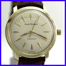 VINTAGE GIRARD PERREGAUX GYROMATIC 14K SOLID YELLOW GOLD MENS WATCH