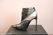 YSL Yves Saint Laurent Metallic Paris Zipper Ankle Boots Booties 38.5 8.5 $1025