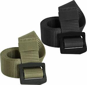 Tactical Deluxe BDU Belt Deluxe Nylon Airport Friendly Plastic Belt Buckle