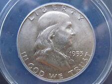 1953-D 50C Franklin Half Dollar ANACS Certified MS-63 FBL