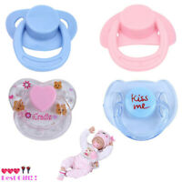 4PCS Dummy Pacifier For Reborn Baby Dolls With Internal Magnetic Accessories