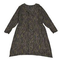 Womens Gudrun Sjoden Lyocell Tunic Dress Printed Loose Fit V-Neck Size L