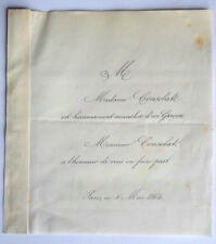 Mr Mme CONSOLAT Faire Part Naissance de leur garçon genealogie 1864
