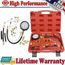 Auto Fuel Pressure Tester Fuel Injection Gas Gasoline Pressure Gauge Kit Tools