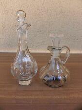 huilier vinaigrier carafe cristal verre soufflé ancien