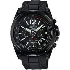 Casio Men's EFR545SBPB-1B Edifice Tough Solar Black Watch Black Dial