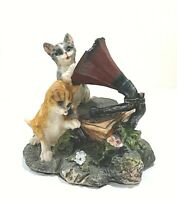 Vintage Cats Playing around With Antique Phonograph Figurine For Cat Lovers