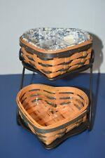 New Listing2000 Longaberger Heart Basket Combo Wrought Iron Stand Traditions Sweetheart