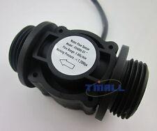 "G1"" Water Flow Hall Effect Sensor Switch Flow Meter Flowmeter Counter 1-60L/min"