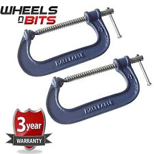 2x Heavy Duty G Clamp 8 Inch 200mm G-Clamps with Copper Screw with Swivel Pad