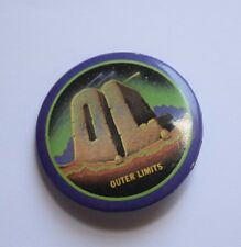 Vintage Outer Limits Promotional Promo Button Pin O.L. Movie/TV Collectible