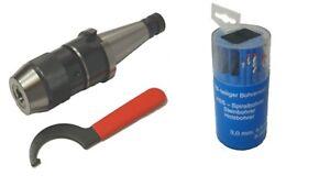 Kurzbohrfutter SK40 DIN2080 3-16mm + Spannschlüssel + 18-Teiliger Bohrersatz