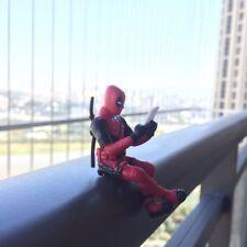 Deadpool Sitting Posture Model Anime X-Men Action Figure Decoration Collection