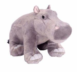 CUDDLEKINS HIPPO PLUSH SOFT TOY 30CM STUFFED ANIMAL BY WILD REPUBLIC
