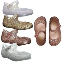 Mini Melissa Kids Baby Girl Shoes Campana Zig Zag V Mary Jane Summer Flats NEW