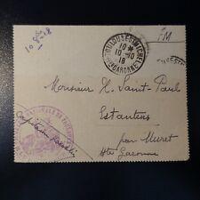 LETTRE COVER POUDRERIE NATIONALE DE TOULOUSE 1918 -> MURET