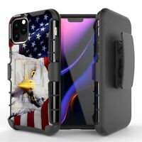 PATRIOT Eagle US Flag Hybrid Armor Belt Clip Case for iPhone 11 XS Max XR 8 7 6