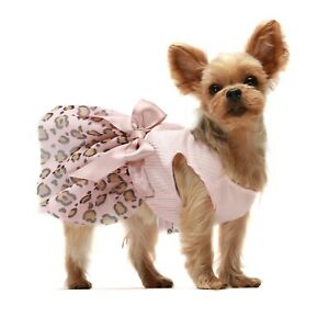 Fitwarm Leopard Dog Tutu Dresses Dog Clothes Puppy Outfits Birthday Apparel Vest