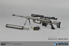 "ZY Toys 1/6 Weapon Black CheyTac Intervention M-200 Sniping Rifle F 12"" Figure"