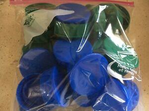 Lot Clean Blue & Green Plastic Orange Juice Caps – For Arts & Crafts