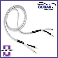"Analysis Plus ""Silver Oval Two"" Speaker Cables, 12 Gauge, 4ft Length - PAIR"
