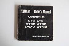 Yamaha Rider's Manual CT3 LT3 AT3E AT3F LTMX ATMX 305-28199-51