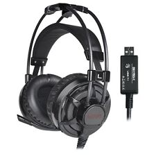 LUXON 7.1 Gaming Headset Over Ear Stereo Headphones with Mic for PC/MAC/PS4