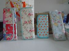 IN EXC COND 4 x CATH KIDSTON FLORAL COSMETIC BRUSH CASES WITH ZIPPED SECTIONS