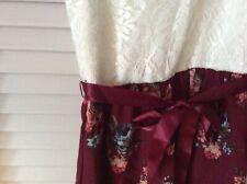 NEW LILY BLEU Dress Girls Size 6X WHITE LACE W FLORAL SKIRT CUTE Free Ship NWT