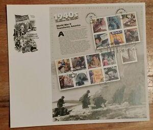 US SCOTT #3186 ARTCRAFT FDC SvSht CELEBRATE THE CENTURY - 1940s ISSUED 2/18/1999