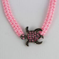 Rosa Armband mit glitzernder Meeresschildkröte, Universalgröße