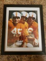 Tennessee Volunteers johnny majors autographed photo 10.5 x12.5 framed
