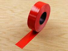 "2"" Red Colored Duct Tape Colors Waterproof UV Tear Resistant 60 yd 180' Roll"