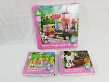 ELC BUILDING BRICKS CASTLE, CARRIAGE, PONY PEN & PICNIC BRICKS BUNDLE 5-8 YEARS